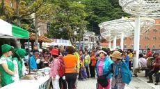 섬 아줌마들 , 향토나물 홍보 팔 걷었다.