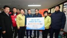김관용 경북도지사, 대구 서문시장 화재현장 방문…성금 2억 전달