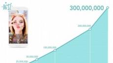 라인 카메라앱 B612, 29개월만에 다운로드 3억건 달성