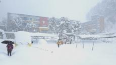 [포토뉴스]눈에 묻힌 섬마을 학교