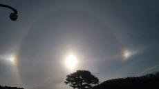 [포토뉴스]영주 부석사 상공에 나타난 3개의 태양