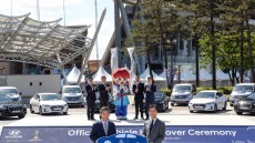 현대차, 'FIFA U-20 월드컵' 공식 차량 전달식