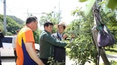 의성군·군의회, 우박 피해 현장방문