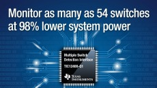TI의 고집적 스위치 및 센서 모니터링 IC, 시스템 전력 소모 대폭 감소