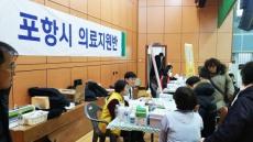 포항 지진 피해 현장 의료봉사 활발