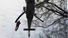 울릉도서 산나물채취  응급환자 60대 남성 소방헬기 출동 구조