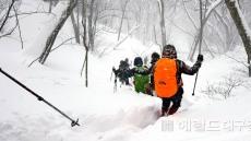 전국산악구조대원 울릉 雪山서 구조 역량 키운다.