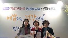 보건복지부 지역사회 통합건강증진사업평가서 의성군 우수기관상 수상