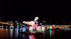 가을밤 밝힌 진주 남강 유등축제 (화보)