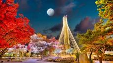 경북문화관광공사, 청사 굴뚝 이용 크리스마스트리 점등