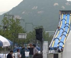광화문 봅슬레이, 도심 속 동계올림픽 미리 즐기기?