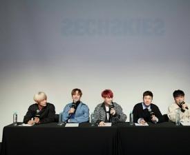 """[현장;뷰] 젝스키스 """"1세대 아이돌로서 책임감 느껴..정규 5집 여러 감정 담겼다"""""""