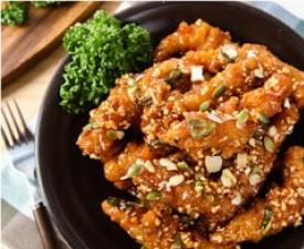 마늘새우강정, 속초의 핫푸드 '등판'