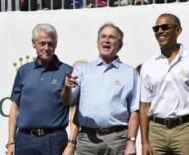 오바마-부시, 두 미국 전직 대통령 같은 골프장 회원 가입