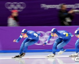[평창] 이승훈, 김민석, 정재원 남자 팀추월, 올림픽 2연속 은메달