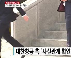 '조양호 부인' 이명희 동영상, 대한항공은 눈가리고 아웅?
