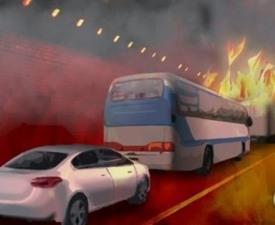 울산 포항 고속도로서 달리던 화물차에 화재…시민 구출 나서