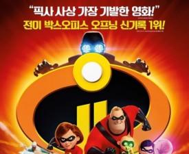 [박스오피스] '인크레더블2', 픽사 흥행 기록 세울까…'압도적 1위'