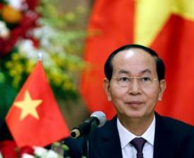 """""""충격과 슬픔 금할 수 없어"""" 文 대통령, 쩐 다이 꽝 베트남 주석 서거에 남긴 글"""