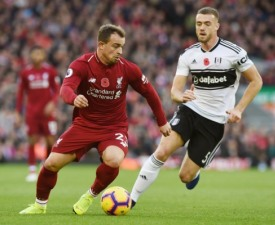 [PL 12R] '왼발 듀오' 살라-샤키리 연속골...리버풀, 리그 최하위 풀럼에 2-0 승리