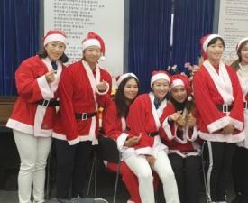 삼천리스포츠단 골퍼들, 산타옷 입고 봉사활동