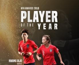 황의조, 손흥민 제치고 '2018년 한국축구 최고의 선수'