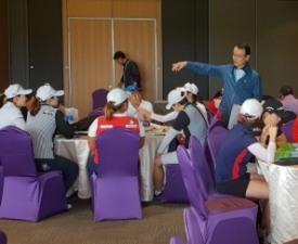 '대만여자오픈 출전 선수-캐디 대상' 개정 골프룰 교육 시행