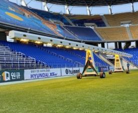 울산 문수축구경기장, 잔디생육용 성장조명 '국내 최초' 시험 도입