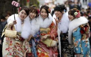 기모노~ 일본 소녀들~ 깜찍한 성인식~~~