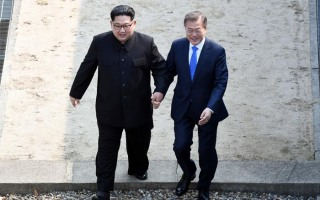 남북정상~ 군사분계선을 넘어 평화로~~~