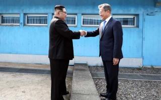 군사분계선도 막지 못한 평화의 악수~~~
