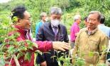 조재호 농림축산부 차관보, 봉화 우박 피해 농가 현장 방문..지원대책 마련약속