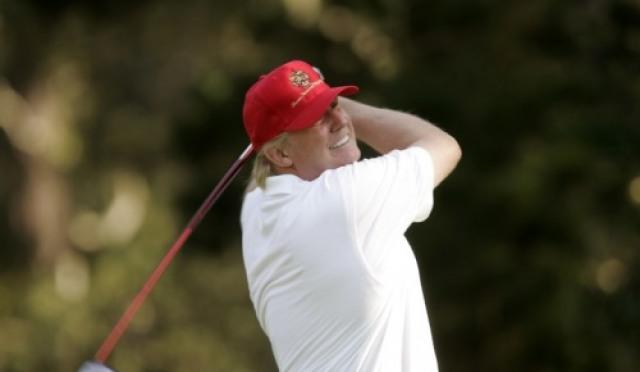 트럼프 대통령, 타이거 우즈, 더스틴 존슨과의 골프 자랑