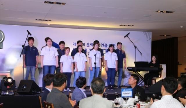 장애인 직업합창단 골프존파스텔 공연
