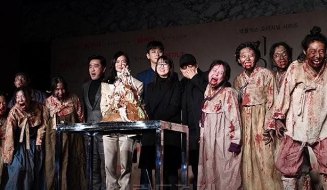 [포토;뷰] '킹덤' 좀비들과 함께한 제작발표회 현장
