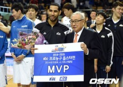 MVP 문태영, KBL팀의 국가대표팀 격파에 선봉