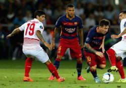 메시 2골 1도움, 바르샤 세비야 제압하고 UEFA슈퍼컵 우승