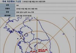 경북 김천서 규모 3.0 지진 발생