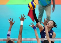 [리우올림픽] 여자배구 브라질에 0-3패, 그래도 '8강 확정'