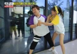 """'런닝맨' 김세정, 엄청난 힘으로 하재숙 제압 """"얘 힘 진짜 세다. 대박이다"""""""