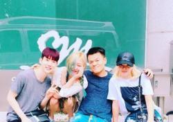 """효연X민X조권 Triple T, JYP 박진영과 다정하게 '찰칵'…""""무슨 일이지?"""""""