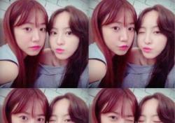 """에이핑크 남주, 배우 정혜성과 절친 인증샷 """"쥬자매 #사랑한다"""""""