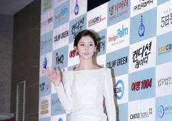 [V포토] 박연수, 몸매 라인 강조한 화이트 드레스 '단연 으뜸' (대종상영화제)