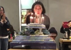 '도깨비' 종방연 공유, 촛불 패러디 '웃음만발'