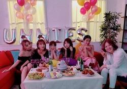 전소미, '언니쓰' 멤버들과 자축 파티 중?
