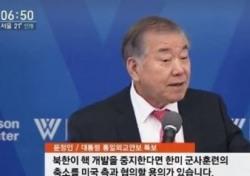 문정인 특보 발언 지지→논란으로 '사드·북핵' 뜨거운 감자