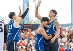 [농구이슈] '더이상 길거리농구가 아니다' 소중한 1승 거둔 3X3 남자대표팀
