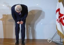 """미스터피자 정우현 회장직 사퇴하고 고개 숙였지만…""""눈가리고 아웅이다"""""""