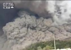 시나붕 화산, 2월부터 분화…화산재 높이가?