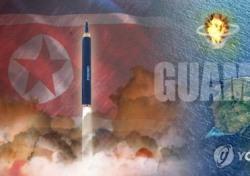 """북한 괌 포위 사격 검토 """"너무너무 위험"""" 정작 韓 정치권은 헐뜯기 혈안"""